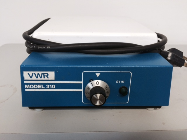 "Item 3. VWR Model 310 Stirrer. 7""x7"" Ceramic Plate. $35.00"